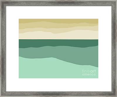 Sea Slab Waves 2 Framed Print
