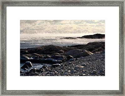 Sea-smoke At Schoodic Framed Print by Brent L Ander