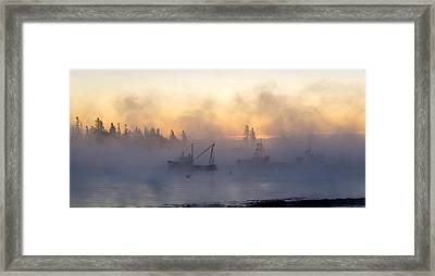 Sea Smoke Down East Maine  Framed Print