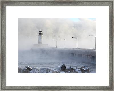 Sea Smoke Framed Print