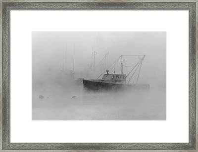 Sea Smoke Jonesport Maine  Framed Print