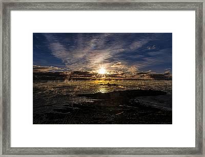 Sea Smoke Panorama Framed Print by Marty Saccone