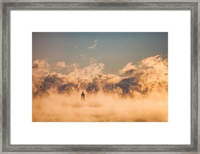 Sea Smoke Framed Print by Robert Clifford