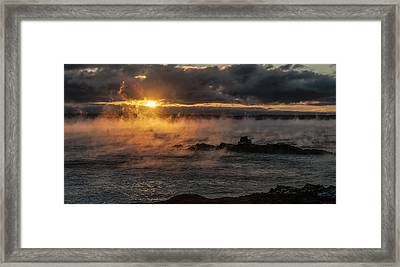 Sea Smoke Sunrise Framed Print by Marty Saccone