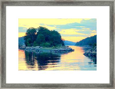 When Our Sea So Silent, Our Life Is So Good  Framed Print