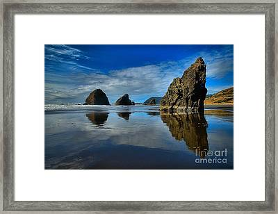 Sea Stack Blues Framed Print by Adam Jewell