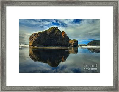 Sea Stack Swirls Framed Print by Adam Jewell
