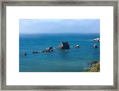 Sea Stacks At Ecola Point Framed Print