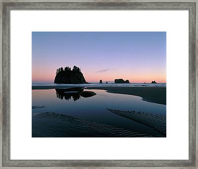 Sea Stacks Reflecting In Tidal Pools Framed Print by Panoramic Images