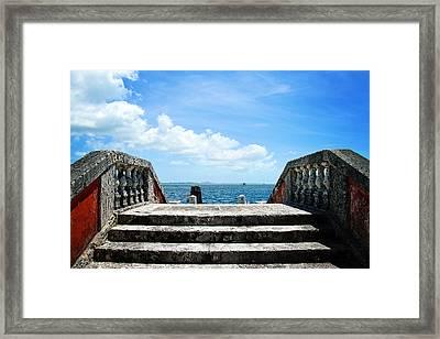 Sea Stairs Framed Print