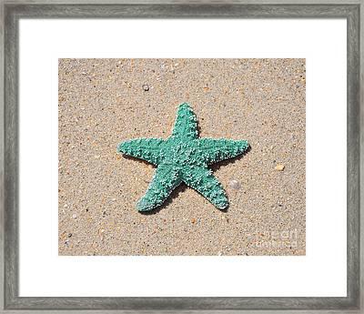 Sea Star - Aqua Framed Print by Al Powell Photography USA