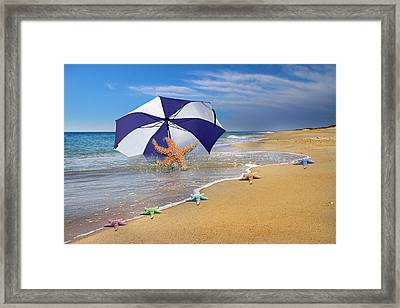 Sea Star Celebration  Framed Print by Betsy Knapp