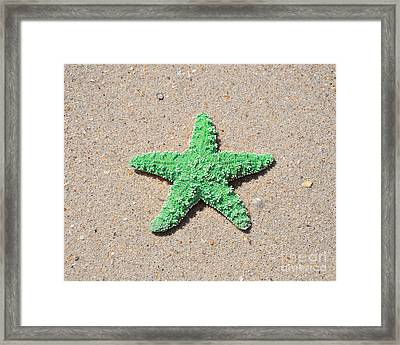 Sea Star - Green Framed Print by Al Powell Photography USA