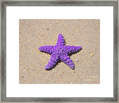 Sea Star - Purple Framed Print by Al Powell Photography USA