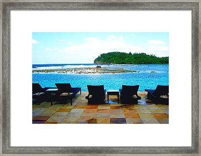 Sea Star Villa Framed Print by Carey Chen
