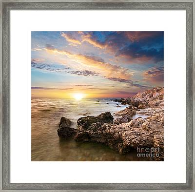 Sea Stones Framed Print by Boon Mee