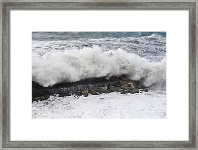 Sea Storm  Framed Print by Antonio Scarpi