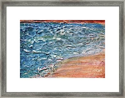 Framed Print featuring the painting Sea Study by D Renee Wilson