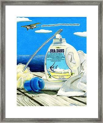 Sea Suds Framed Print