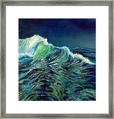 Sea Swells Framed Print