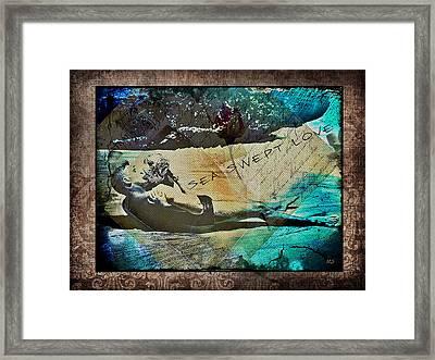 Sea Swept Love Framed Print