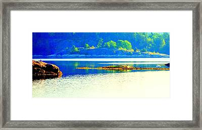 Watch The Sea And See The Silence Framed Print