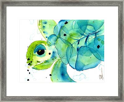 Sea Turtle Framed Print by Dawn Derman