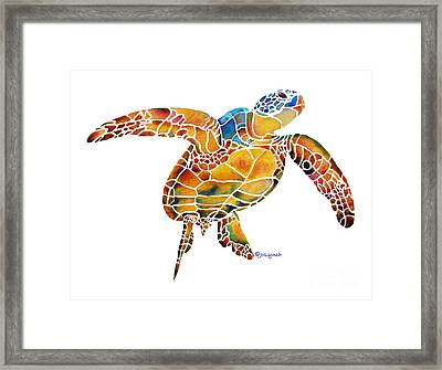 Sea Turtle Gentle Giant 2 Framed Print by Jo Lynch