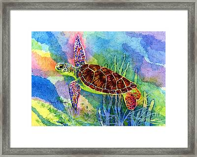Sea Turtle Framed Print by Hailey E Herrera