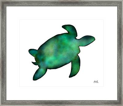 Sea Turtle Framed Print by Laura Bell