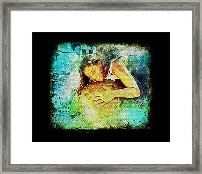 Sea Turtle Love Framed Print by Absinthe Art By Michelle LeAnn Scott