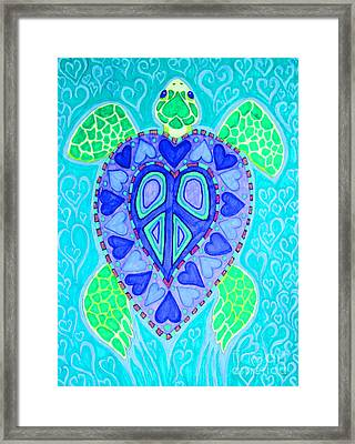 Sea Turtle Swim Framed Print