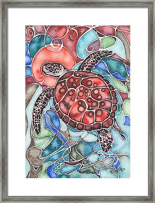 Sea Turtle Framed Print by Tamara Phillips