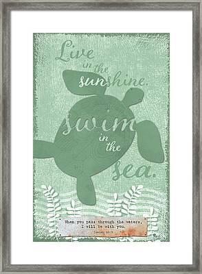 Sea Turtle Verse Framed Print by Velvet Lime Girls