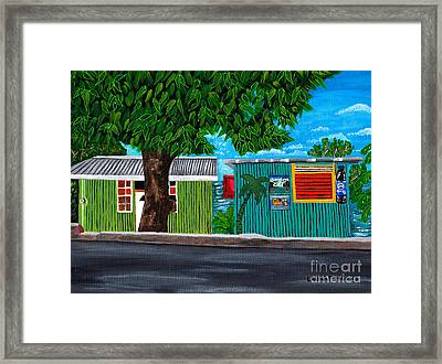 Framed Print featuring the painting Sea-view Cafe by Laura Forde