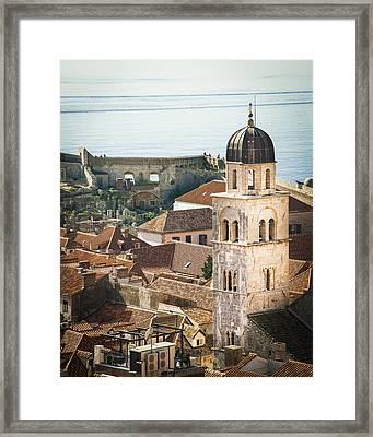 Framed Print featuring the photograph Sea View by Phyllis Peterson