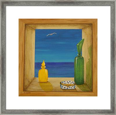 Sea View Two Framed Print by Pamela Allegretto