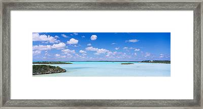 Sea Viewed From The Beach, Chalk Sound Framed Print
