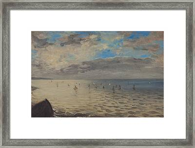 Sea Viewed From The Heights Of Dieppe Framed Print by Ferdinand Victor Eugene Delacroix