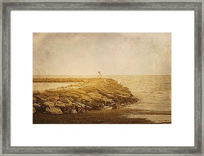 Sea Wall Providence Cape Cod Ma Framed Print by Suzanne Powers