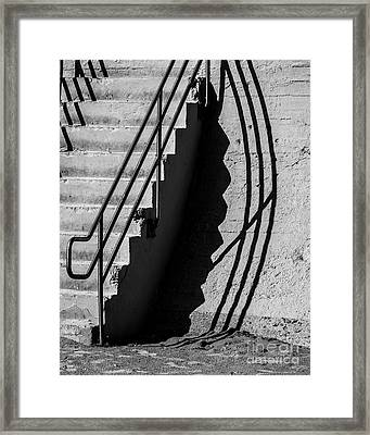 Sea Wall Shadow Framed Print by Perry Webster