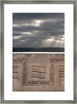 Sea Walls And Light Shafts Framed Print by Peter Tellone