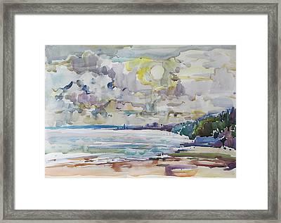 Sea Water Colour Framed Print