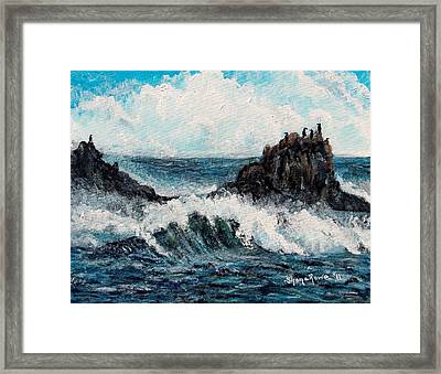 Framed Print featuring the painting Sea Whisper by Shana Rowe Jackson
