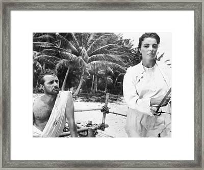 Sea Wife, From Left, Richard Burton Framed Print
