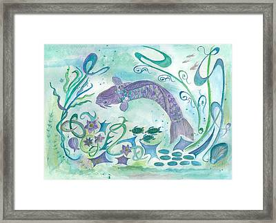 Sea World -painting Framed Print by Veronica Rickard