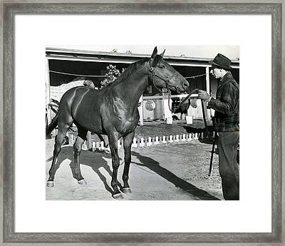 Seabiscuit Horse Racing #1 Framed Print by Retro Images Archive
