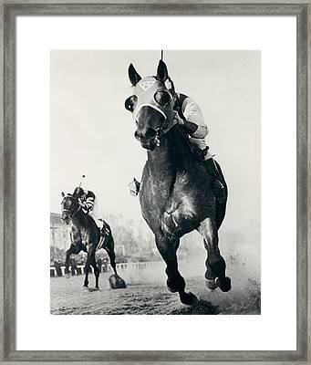 Seabiscuit Horse Racing #3 Framed Print by Retro Images Archive