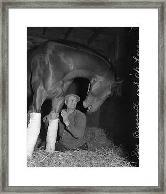 Rare Seabiscuit Triple Crown Winner #7 Framed Print by Retro Images Archive