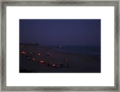 Seabright At Dusk Framed Print by Tom Kelly